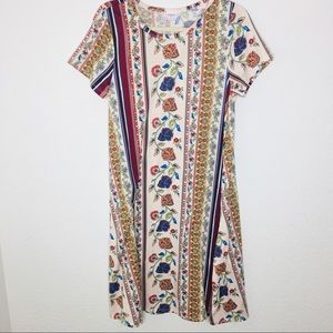 Lularoe Carly Dress with Pockets fall colors SMALL
